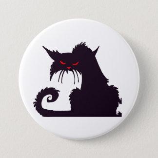Den Grumpy svart katten knäppas Mellanstor Knapp Rund 7.6 Cm