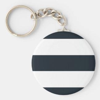 Den grundläggande rundan knäppas Keychain - svart- Rund Nyckelring