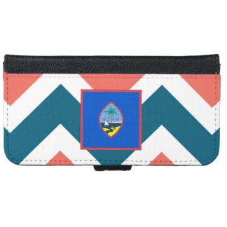 Den Guam flagga boxas på färgrik sparre Plånboksfodral För iPhone 6/6s