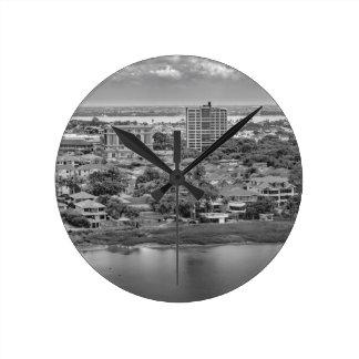 Den Guayaquil antennen beskådar från Rund Klocka