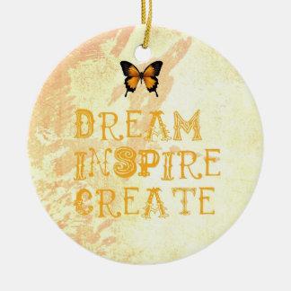 Den gula drömmen, inspirerar, julprydnaden julgransprydnad keramik