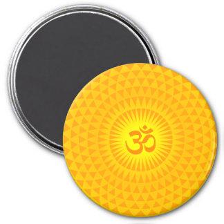 Den gula guld- meditationen för magnet rund 7.6 cm