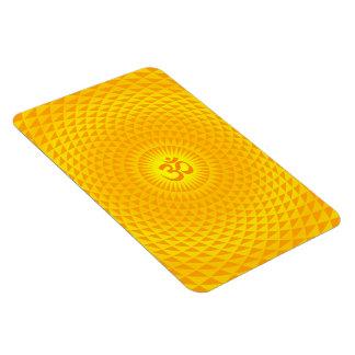 Den gula guld- meditationen för sollotusblommablom flexibla magneter