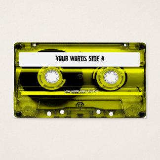 Den gula kassetten tejpar personlig visitkort