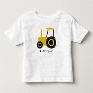 Den gula traktoren tillfogar precis namn tee shirts