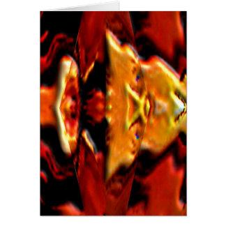 Den guld- anden pläterar n flammar - Reiki som Hälsningskort