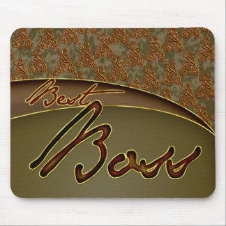 Den guld- bruna designen för bäst chef mus matta