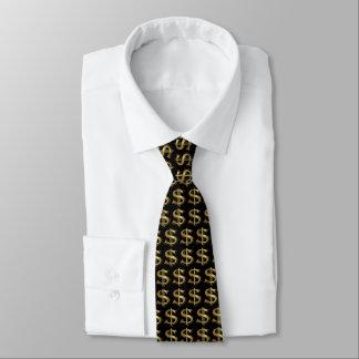 Den guld- dollaren undertecknar tien slips