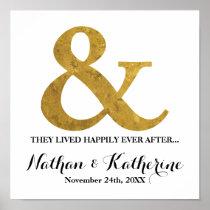 Den guld- et-tecken, når den har gifta sig, poster