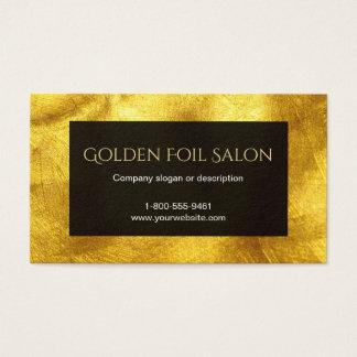 Den guld- fauxen omkullkastar Look med svart Visitkort