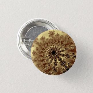 Den guld- fractalen brast litet knäppas mini knapp rund 3.2 cm