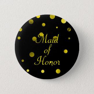 Den guld- glitterfauxen omkullkastar konfettiar standard knapp rund 5.7 cm