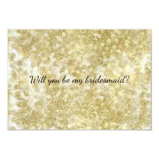 Den guld- gnistran Glittery Bokeh är min brudtärna 8,9 X 12,7 Cm Inbjudningskort