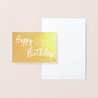 den guld- grattis på födelsedagen omkullkastar folierat kort