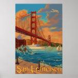 Den guld- grinden överbryggar - San Francisco, Posters