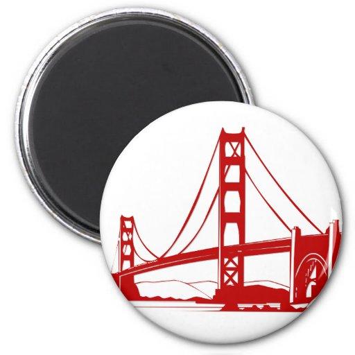 Den guld- grinden överbryggar - San Francisco, CA Magneter För Kylskåp