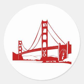 Den guld- grinden överbryggar - San Francisco, CA Runt Klistermärke
