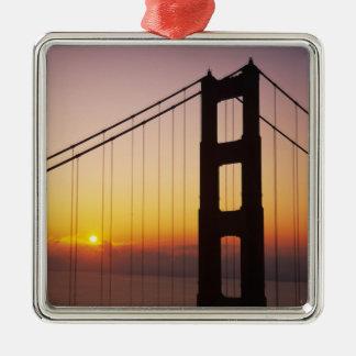 Den guld- grinden överbryggar, San Francisco, Julgransprydnad Metall