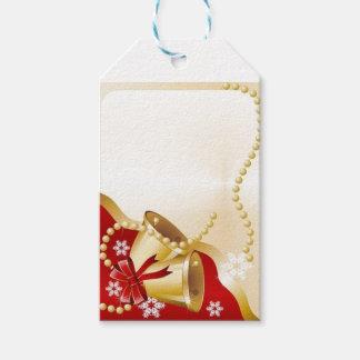 den guld- julaftonen sätta en klocka på presentetikett