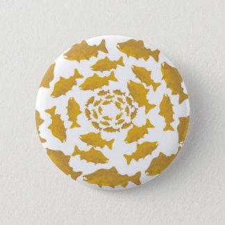 Den guld- laxen cirklar standard knapp rund 5.7 cm