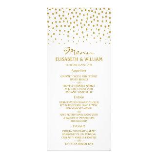 Den guld- polkaen pricker bröllopmenyn reklamkort