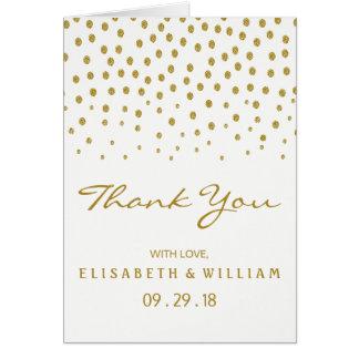 Den guld- polkaen pricker brölloptack OBS kort