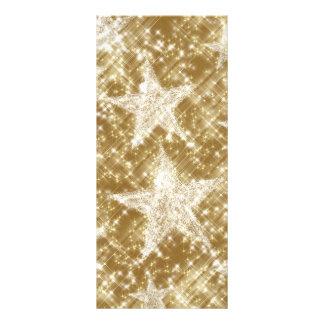 Den guld- stjärnan Sparkles jul Holydays Reklamkort