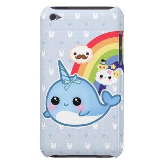 Den gulliga bebiset som är narwhal med regnbågen iPod Case-Mate cases