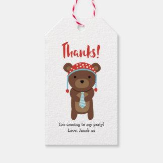 Den gulliga björnen tackar dig märker märkre för | presentetikett