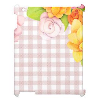 Den gulliga blomman blommar ro på rosa kontroller iPad fodral