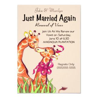 Den gulliga bröllopförnyandet Vows inbjudningar
