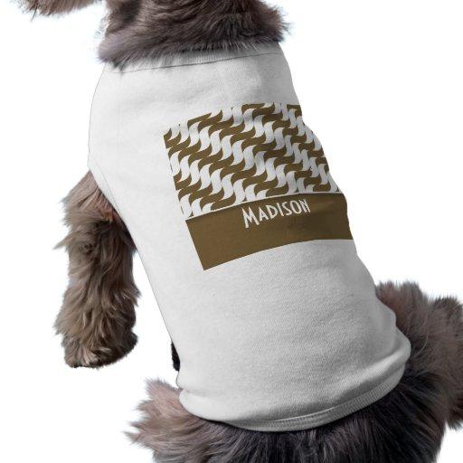 Den gulliga bruntet vinkar; Retro Kläder För Husdjur