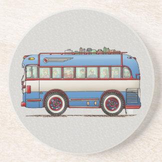 Den gulliga bussen turnerar bussen underlägg