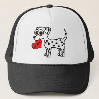 Den gulliga Dalmatian tecknaden är min hjärta Keps