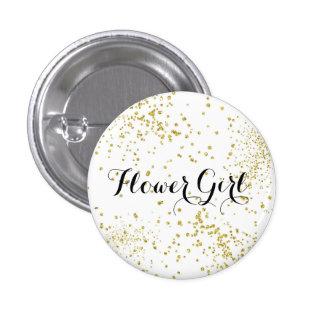 Den gulliga guld- glitterbrudtärnan knäppas mini knapp rund 3.2 cm