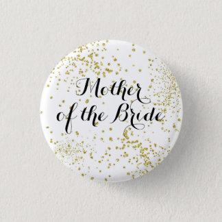 Den gulliga guld- glitterbudens mamma knäppas mini knapp rund 3.2 cm