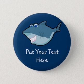 Den gulliga hajen Keychain & knäppas Standard Knapp Rund 5.7 Cm