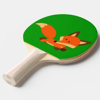 Den gulliga hastiga tecknadrävpingen Pong paddlar Pingisracket
