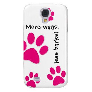Den gulliga hundiPhonen täcker rosa tassar Galaxy S4 Fodral