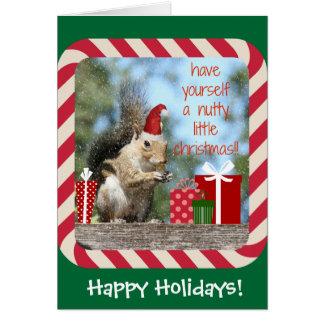 Den gulliga julekorren, har nötliknande julafton!! hälsningskort