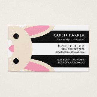 Den gulliga kaninsvarten görar randig mammakortet visitkort