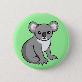Den gulliga lyckliga grå färgKoalateckningen Standard Knapp Rund 5.7 Cm