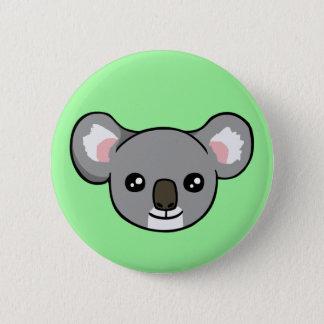 Den gulliga lyckliga teckningen för grå standard knapp rund 5.7 cm
