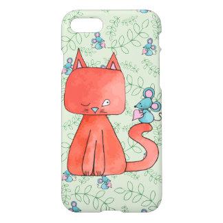 Den gulliga musen älskar kattungen iPhone 7 skal
