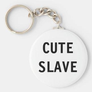Den gulliga nyckelringen slavar rund nyckelring