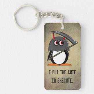Den gulliga onda pingvinet utför in nyckelring