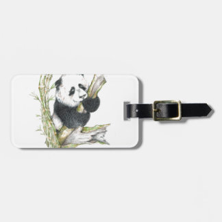 Den gulliga Pandabjörnen ritar teckningbambu Bagagebricka