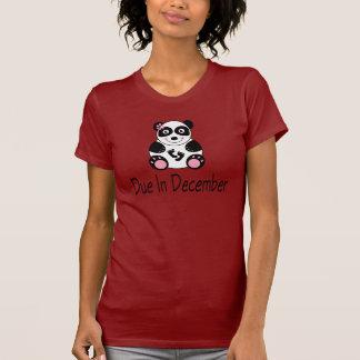 Den gulliga pandaen December daterar rakt T-shirt
