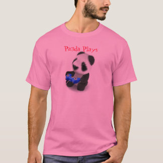Den gulliga pandaen leker Videogames T-shirt