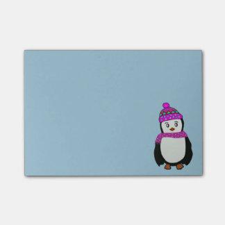 Den gulliga pingvinet Postar-it® noterar Post-it Lappar